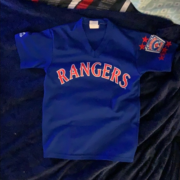 official photos 3d2b1 0de14 Boys baseball shirt(Texas Rangers)
